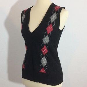 CAbi Sweaters - CAbi Argyle Sweater Vest 100% Lamb's Wool